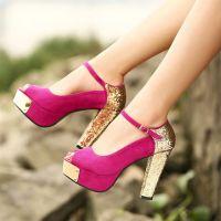 Туфли на широком каблуке 8