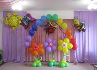 Украшение зала на выпускной в детском саду 1