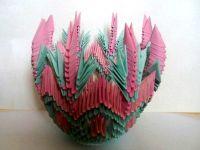 поделки из модулей оригами легко 12