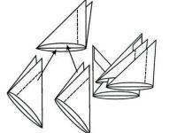 поделки из модулей оригами легко 7