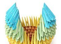 поделки из треугольных модулей фото 21