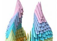 поделки из треугольных модулей фото 23