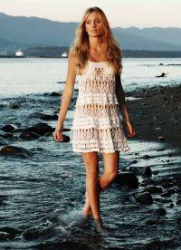 вязаное крючком пляжное платье 5