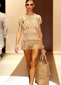 вязаное крючком пляжное платье 6