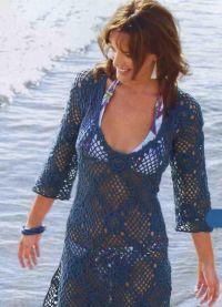 вязаное крючком пляжное платье 8