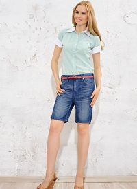 Женские джинсовые бриджи 1