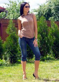 Женские джинсовые бриджи 2