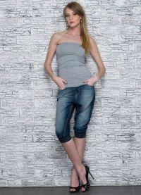 Женские джинсовые бриджи 4