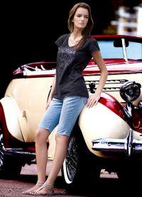 Женские джинсовые бриджи 5