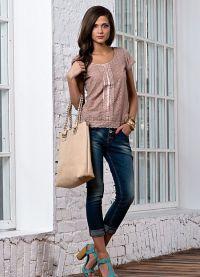 Женские джинсовые бриджи 8