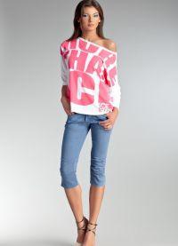 Женские джинсовые бриджи 9