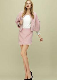 Женский костюм с юбкой 2015 11