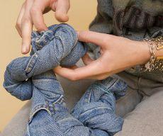 Как отбелить джинсы белизной