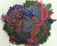 Вышивка на одежде цветы из бисера