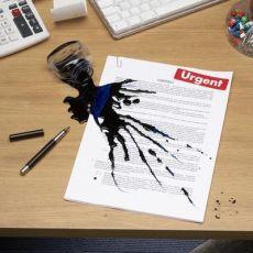 Как вывести чернила с бумаги1