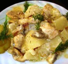 курица грибы картошка сметана