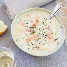 Суп из семги - рецепт