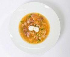 Суп с куриными потрошками