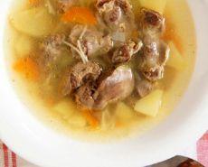суп с куриными потрошками рецепт