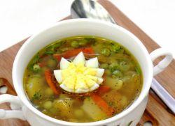 овощной суп рецепт с зеленым горошком