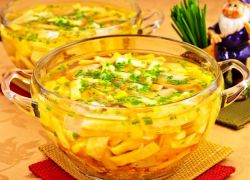 как приготовить суп на курином бульоне