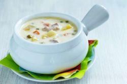 куриный суп с лапшой и плавленным сыром