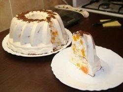 творожный десерт с ананасом и желатином
