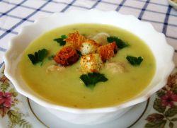 картофельный суп пюре с фрикадельками
