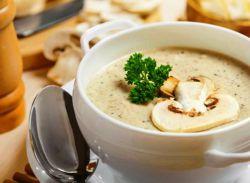 грибной суп пюре с плавленным сыром