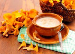 грибной крем суп с лисичками