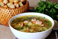 гороховый суп с копчеными ребрышками в скороварке