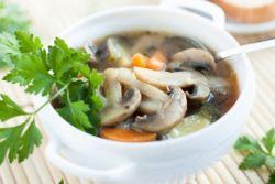 классический грибной суп из шампиньонов