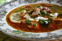 Суп мясная солянка