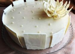 Белая шоколадная глазурь для торта