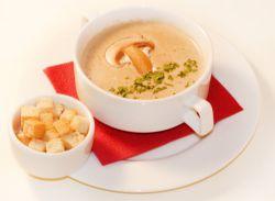 сливочный суп с грибами с плавленным сыром