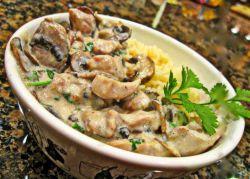 говядина с грибами в сливочном соусе рецепт