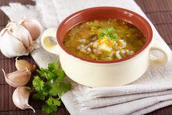 Рассольник с рисом и солеными огурцами рецепт