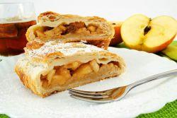 рецепт штруделя с яблоками из слоеного теста