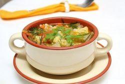 Суп из цветной капусты на мясном бульоне