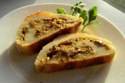 картофельный рулет с мясным фаршем рецепт с фото