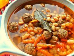 Суп фасолевый с фрикадельками – рецепт