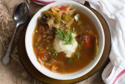 Вкусный и постный грибной суп