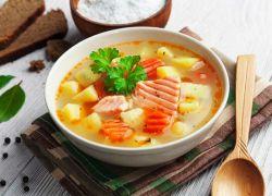суп из головы красной рыбы с шафраном