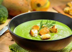 суп пюре из брокколи со сливками