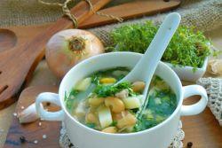 суп куриный с фасолью консервированной