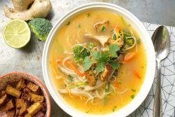 Как приготовить постный грибной суп из шампиньонов с вермишелью