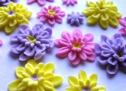 цветы из кондитерской мастики