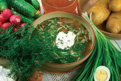 окрошка рецепт на квасе с колбасой