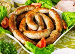 домашняя колбаса из курицы и свинины