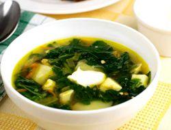 суп из щавеля и крапивы с мясом
